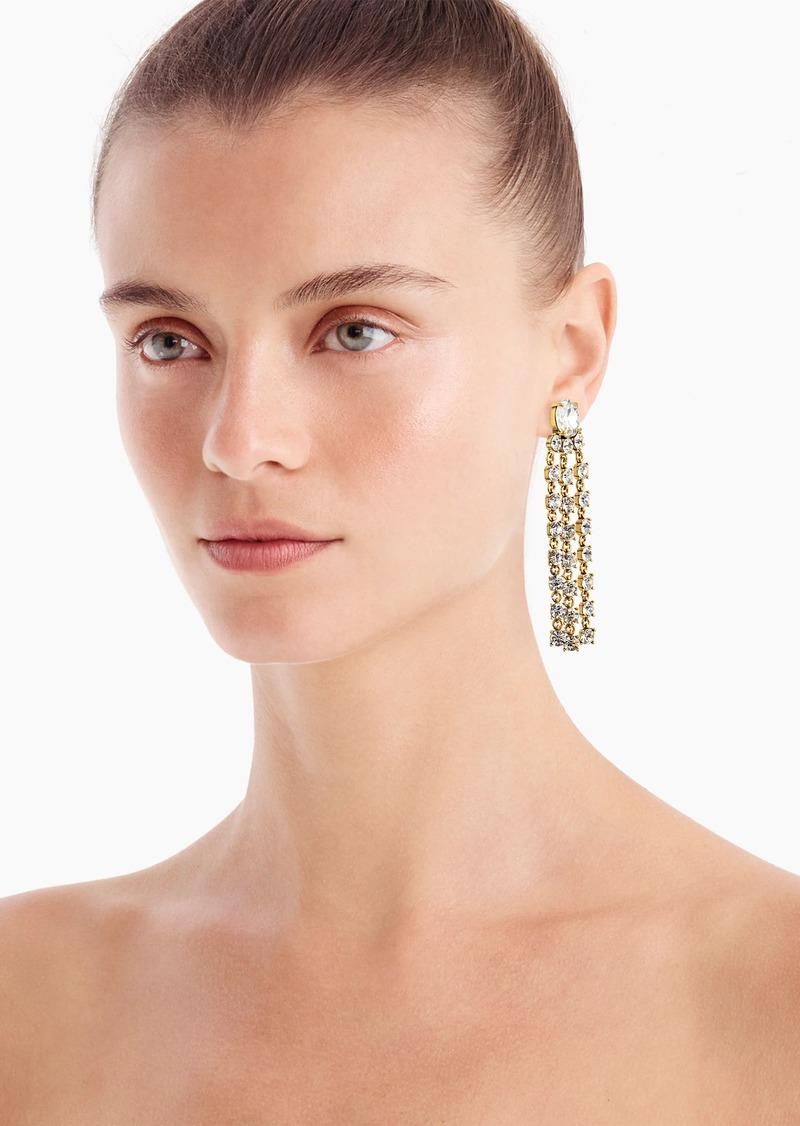 J.Crew Crystal fringe statement earrings