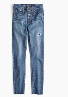 J.Crew Tall curvy toothpick jean with button fly