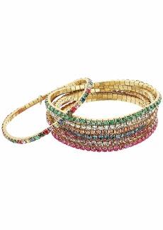 J.Crew Dainty Crystal Stretch Bracelet Set