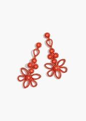 J.Crew Dangling floral earrings