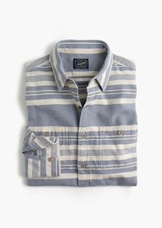 J.Crew Deck stripe workshirt in blue