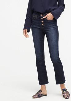 J.Crew Demi-boot crop jean in dark worn wash