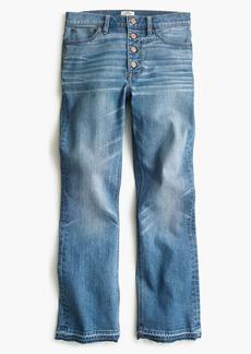Demi-boot crop jean in redwood wash