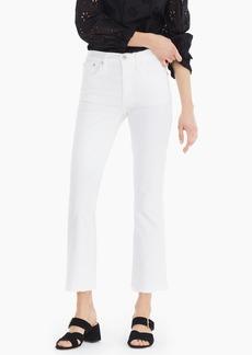 J.Crew Demi-boot crop jean in white