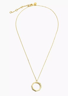 J.Crew Demi-fine 14k gold-plated hexagon pendant necklace