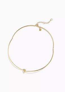 J.Crew Demi-fine 14k gold-plated knot collar necklace