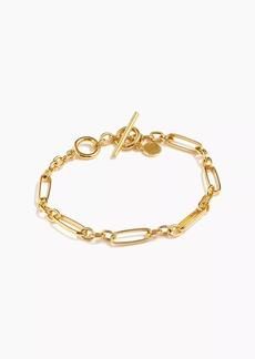 J.Crew Demi-fine 14k gold-plated multi-link bracelet