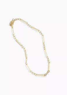 J.Crew Demi-fine 14k gold-plated  short multi-link necklace