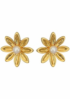 J.Crew Demi-Fine Pearl Flower Stud Earrings