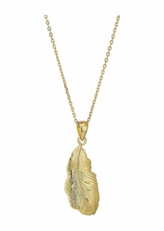 J.Crew Demi-Fine Leaf Pendant Necklace