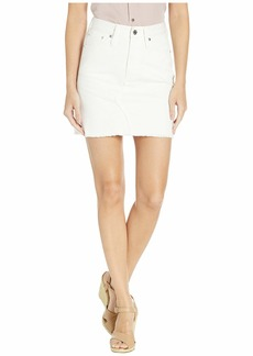 J.Crew Denim Mini Skirt in Chalk White