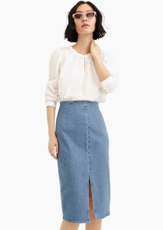 J.Crew Denim pencil skirt in frosty sky wash