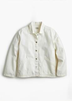 J.Crew Denim swing jacket in white