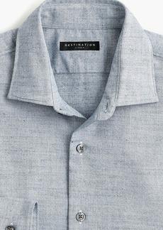 J.Crew Destination heathered straight-hem shirt