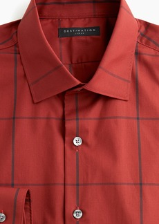 J.Crew Destination slim-fit stretch windowpane dress shirt