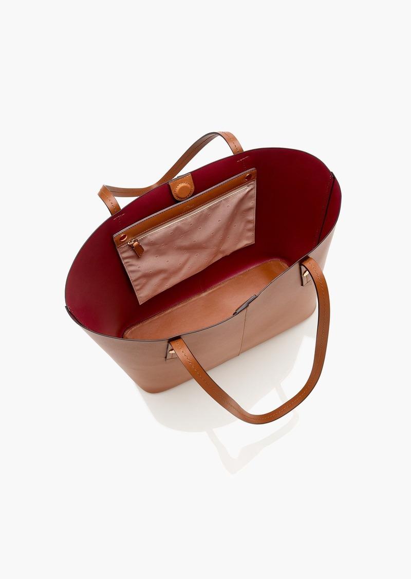 J Crew Devon Bonded Leather Tote Handbags