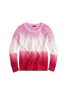 J.Crew Dip-Dye Crew Neck Beach Sweater