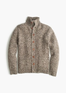 J.Crew Donegal wool mockneck cardigan sweater