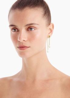 J.Crew Double pearl linear drop earrings