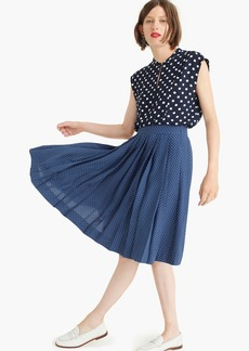 J.Crew Double-pleated midi skirt in polka dot