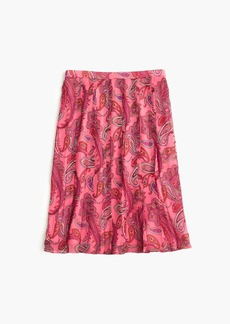 J.Crew Double-pleated skirt in vivid paisley