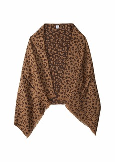 J.Crew Double Sided Leopard Cape Scarf