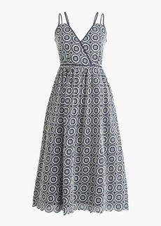 J.Crew Double-strap midi dress in eyelet