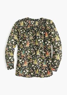 Drake's® for J.Crew classic popover shirt in horseback rider florals