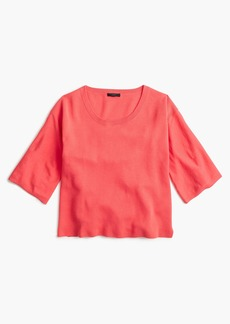J.Crew Dramatic-sleeve sweater in summerweight cotton