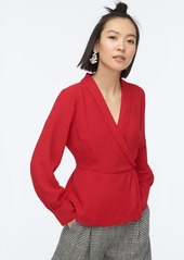 J.Crew Drapey faux-wrap top in 365 crepe