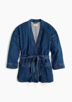 J.Crew Drapey indigo wrap jacket