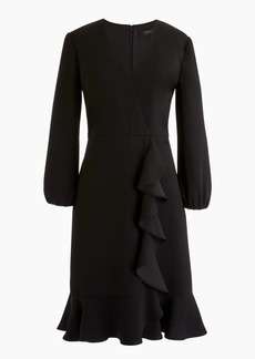 J.Crew Drapey ruffle-front dress