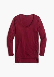 J.Crew Drapey scoopneck long-sleeve T-shirt