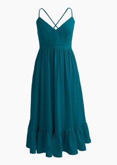 J.Crew Drapey spaghetti-strap dress