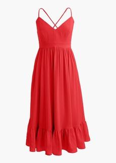 J.Crew Petite drapey spaghetti-strap dress