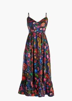 Drapey spaghetti-strap dress in Ratti® paisley floral