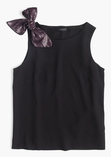J.Crew Petite drapey tank with shoulder bow