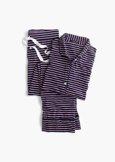 J.Crew Dreamy cotton pajama set in stripe