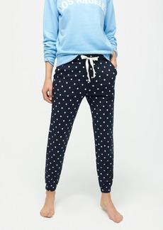 J.Crew Dreamy pajama jogger pant in dot print