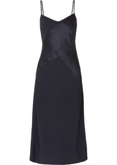 J.Crew Duckling Paneled Crepe And Satin Midi Dress