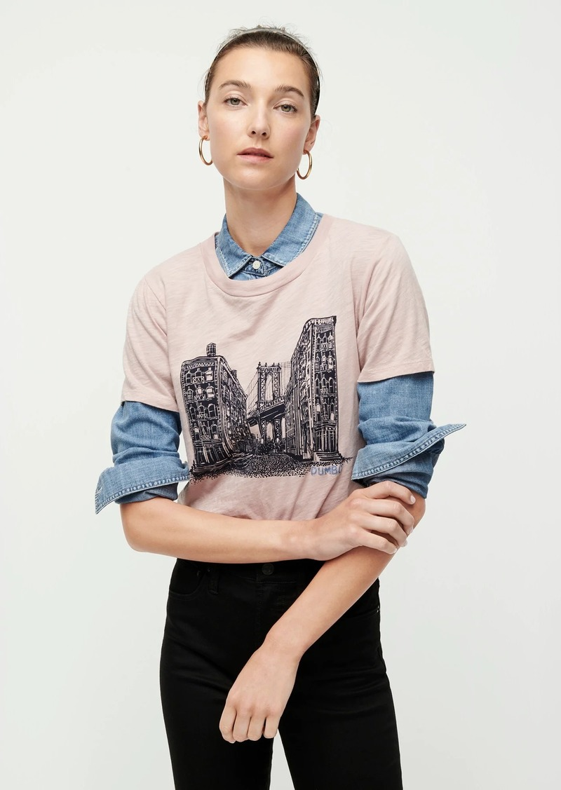 "J.Crew ""DUMBO"" T-shirt in slub cotton"