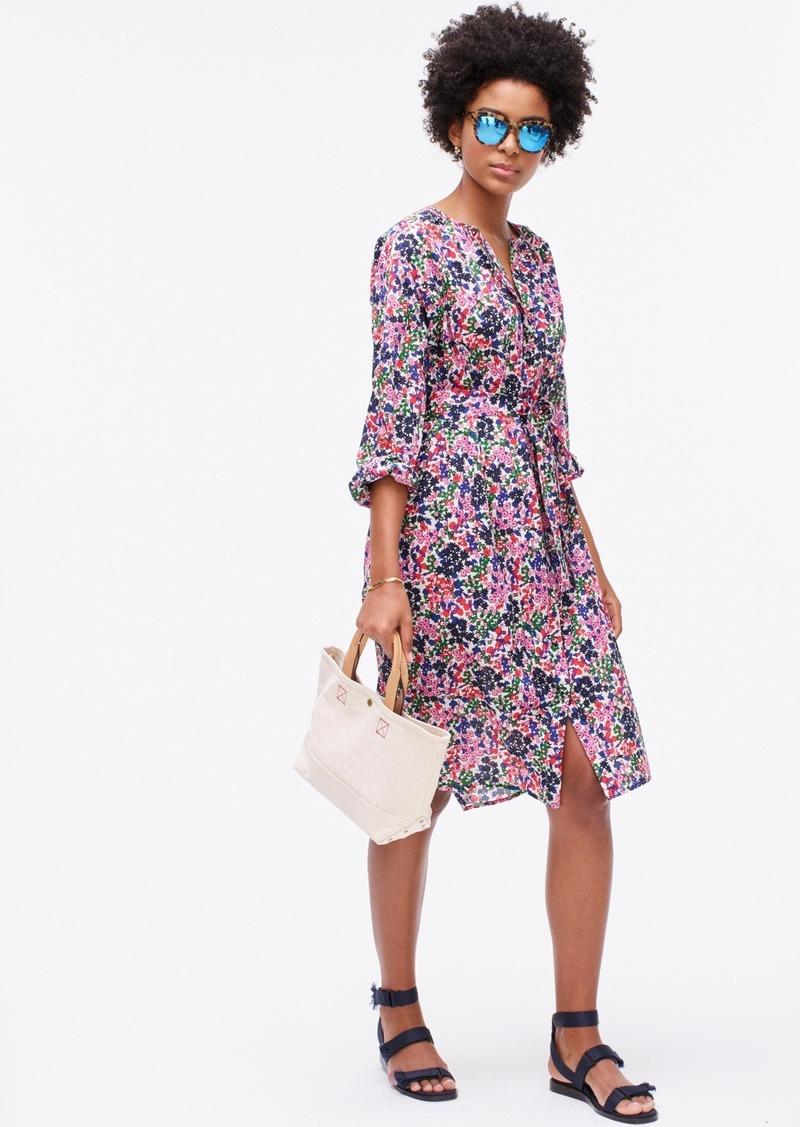 J.Crew Easy tie-waist dress in watermark floral print