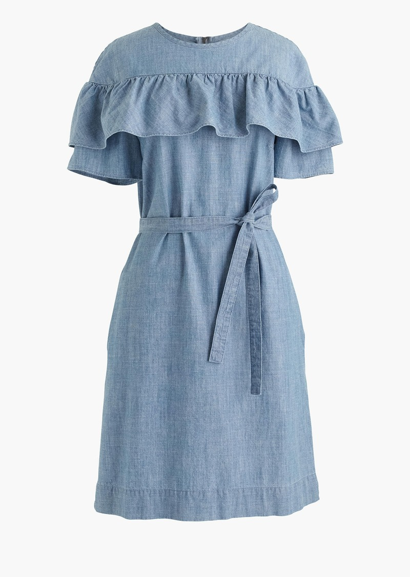 J.Crew Edie dress in chambray