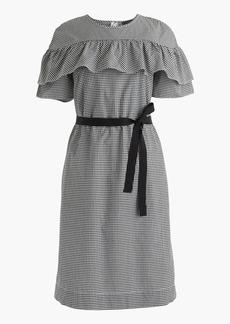 Edie dress in microgingham