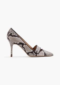 Elsie pavé pumps in snakeskin-printed leather