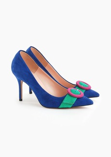 J.Crew Elsie pumps with buckle in suede