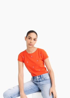 J.Crew Embroidered anchor tee