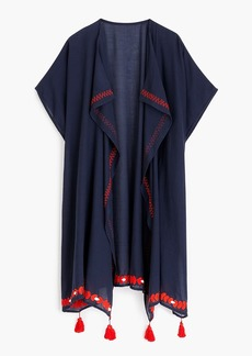 J.Crew Embroidered beach poncho