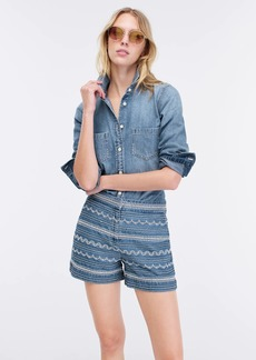 J.Crew Embroidered chambray short