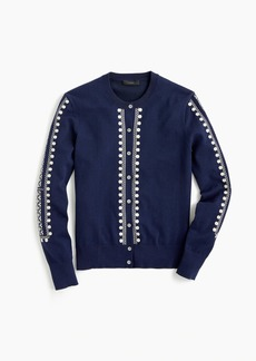 J.Crew Embroidered eyelet Jackie cardigan sweater